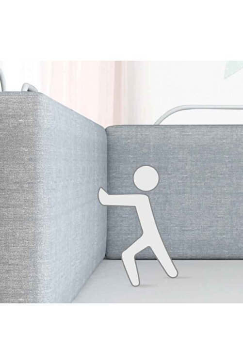 RevuBaby 150 Cm Serenity Xl Yeni Nesil Yatak Bariyeri Korkuluğu Grey 2