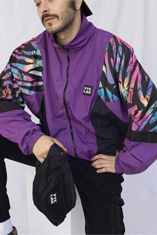 Vatkalimon Kadın Erkek Renkli Desenli Bomber Ceket 1