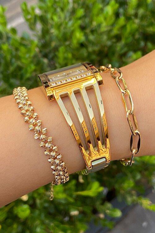 Revello Altın Kaplama Bayan Kaburga Saat İnce 2 Yıl Garantili 2