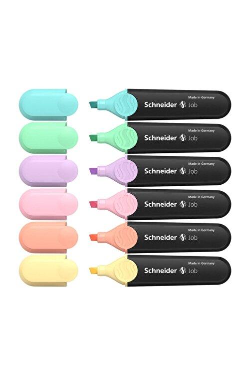 SCHNEIDER Fosforlu Pastel Kalem Tüm Renkler 6'lı Set F.k 1