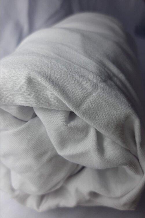 Metehan Ev Tekstil Beyaz Çift Kişilik Lastikli Çarşaf 1