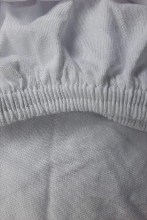 Metehan Ev Tekstil Beyaz Çift Kişilik Lastikli Çarşaf 2