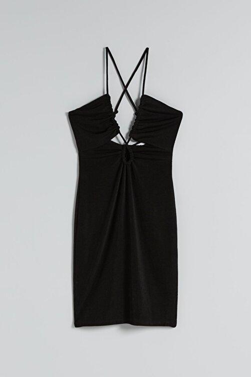 Bershka Parlak Askılı Mini Elbise 2
