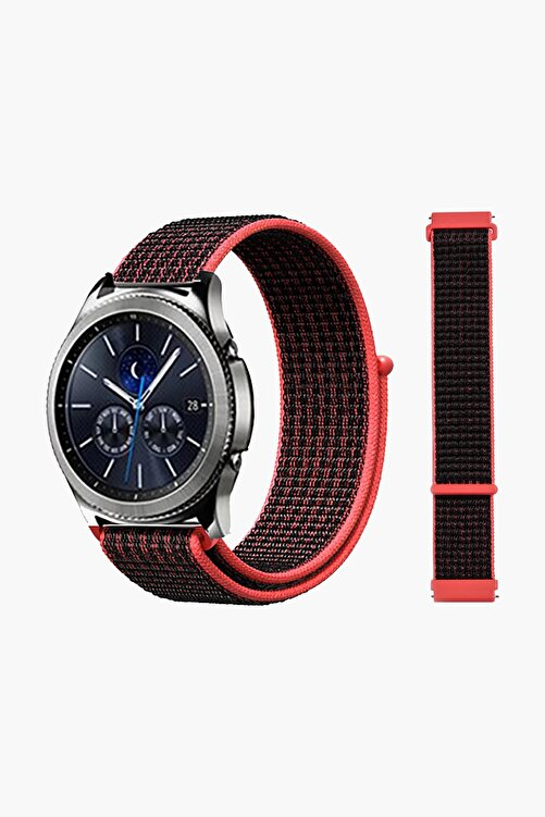 EKTAİS Samsung Gear S3 Frontier/classic - Gt/gt2 Spor - Samsung Galaxy Watch 3 45mm Dokuma Kordon Kayış 1