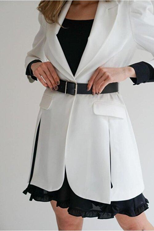 Say Içi Fırfırlı Tunik Ceket 1