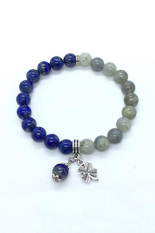 Kamus Lapis Lazuli & Labradorit Taşı Bileklik 2