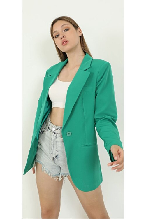 The Ness Collection Yeşil Blazer Ceket 2