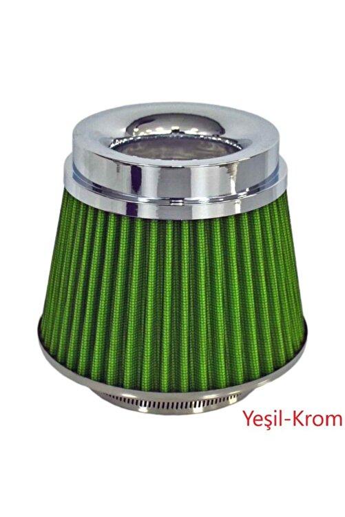 ŞüsCarOto Carub Ses Ve Performans Arttırıcı Açık Hava Filtresi +6 Hp Yeşil Aparatlı Üniversal 1