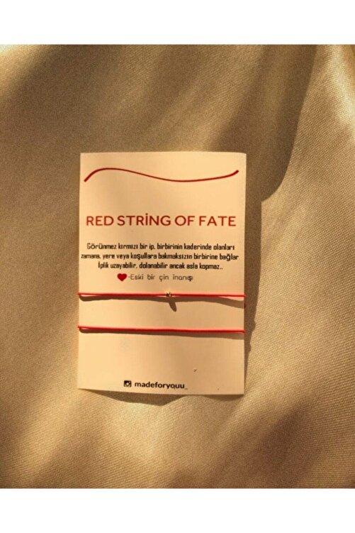 MADEFORYOUU Red String Of Fate Çift Bileklikleri 1