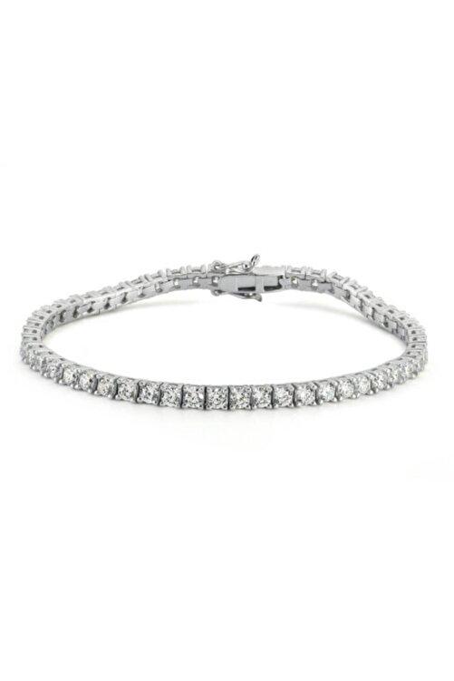Valori Jewels Diamond Montür, 5.39 Karat Swarovski Zirkon Taşli, Gümüş Su Yolu Bileklik 1