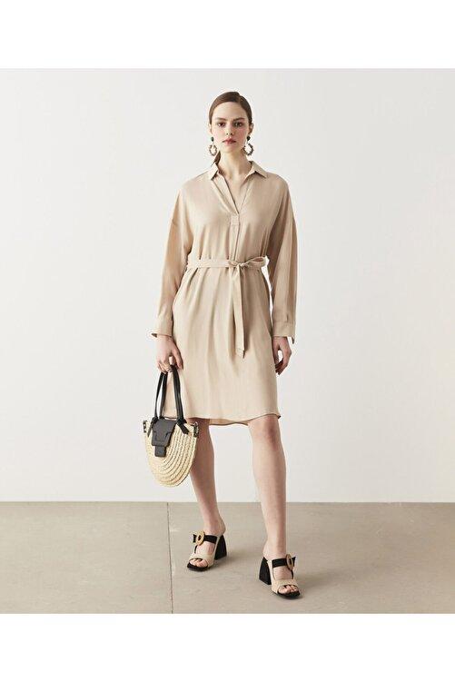 İpekyol Kuşaklı Tencel™ Elbise 1