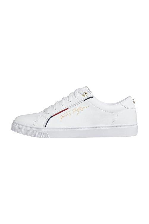 Tommy Hilfiger Kadın Beyaz Sneaker Tommy Hılfıger Sıgnature Sneaker FW0FW05015 1