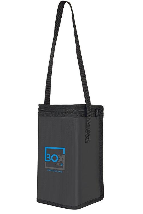 Box&Box 6 Lt Thermo Bag - Termal Korumalı (sıcak/soğuk) Siyah Seyahat, Kamp Ve Piknik Çantası 2