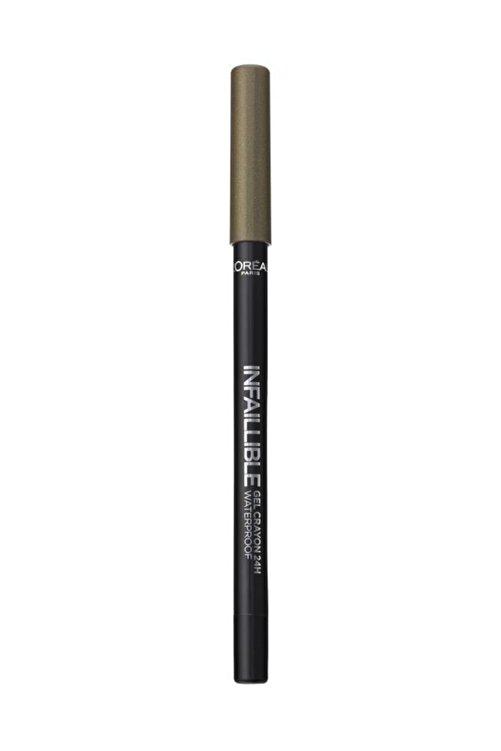 L'Oreal Paris Yeşil Eyeliner - Infaillible Gel Crayon Eyeliner 08 Kaki 3600523351565 2