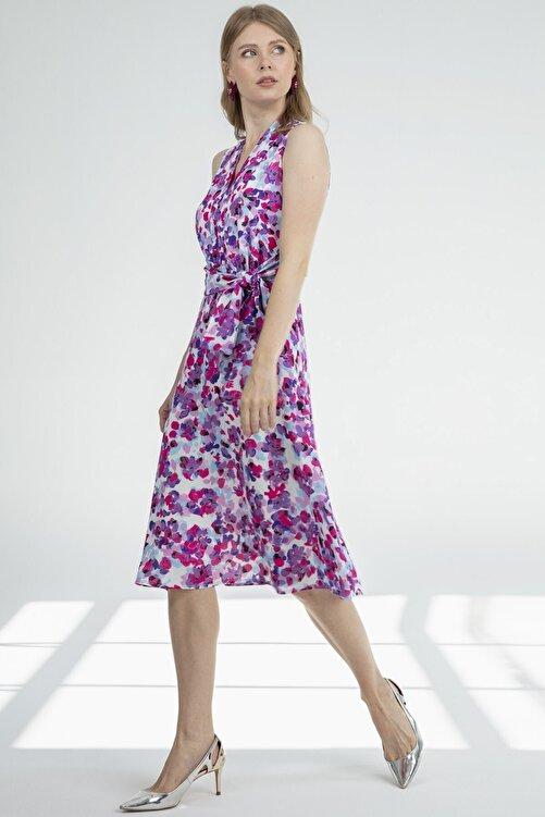 Journey Elbise-v Yaka Kolsuz, Bel Drape Kemer Detaylı 2