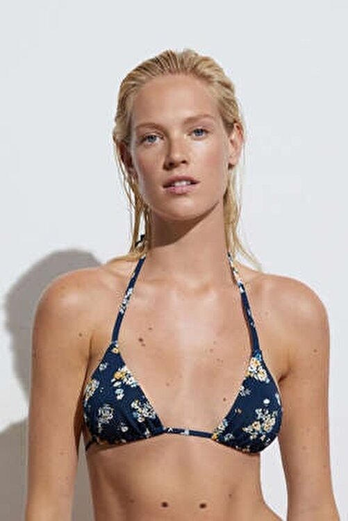 Oysho Minik Çiçekli Üçgen Bikini 1