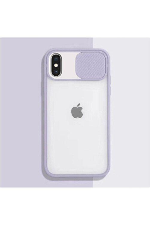 Zengin Çarşım Apple Iphone Xs Max Kamera Lens Korumalı Sürgülü Lüx Kılıf Lila 1