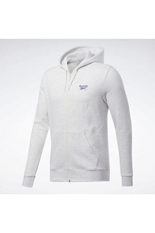 Reebok Unisex Beyaz Cl F Vector Fullzp Sweatshirt 1