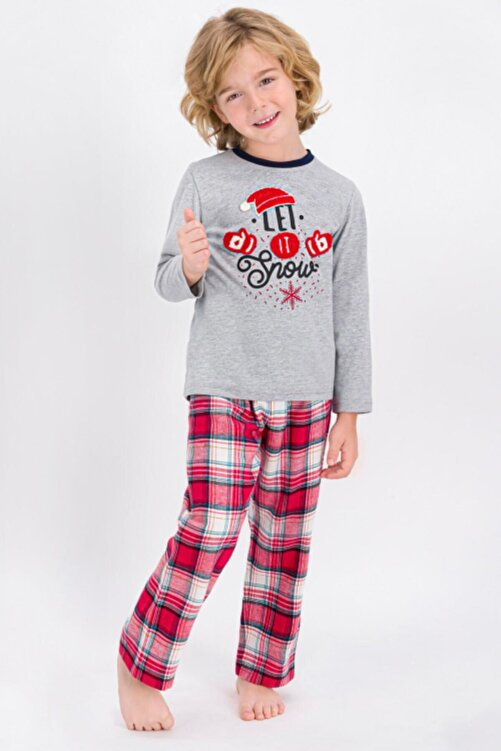 Arnetta Erkek Gri Baba Oğul Kombin Pijama Takım 1070 2