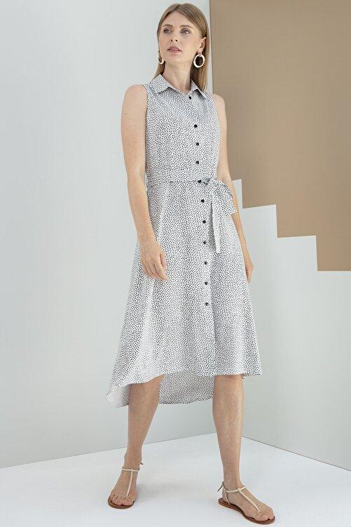 Journey Elbise-polo Yaka, Ön Tam Boy Düğme Detaylı, Ön-arka Geçişli 2