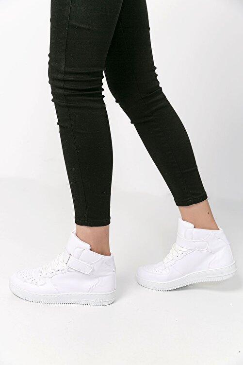 SAYA Unisex Beyaz Bilekli Spor Ayakkabı 2