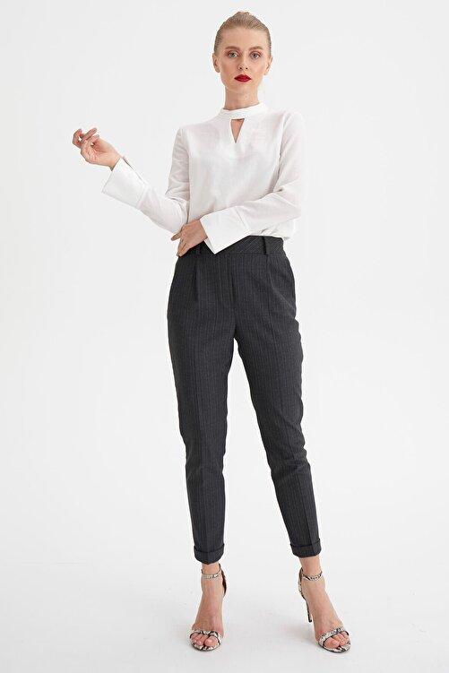 Chima Çizgili Lastikli Pantolon 1