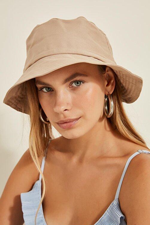 Y-London Kadın Bej Bucket Şapka 13372 1