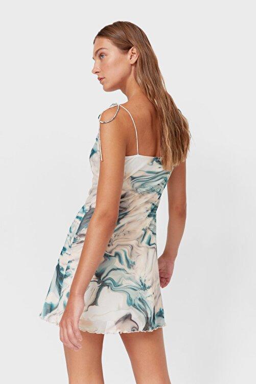 Stradivarius Tül Ip Askılı Elbise 2