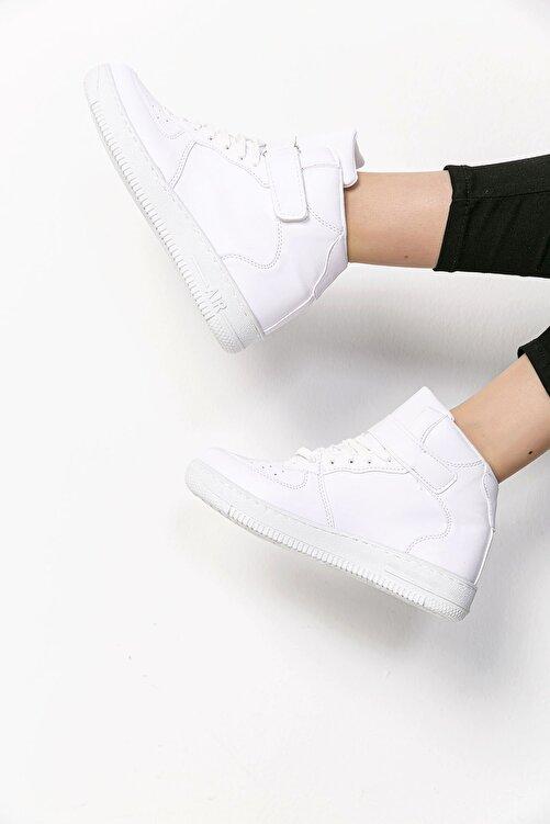 SAYA Unisex Beyaz Bilekli Spor Ayakkabı 1