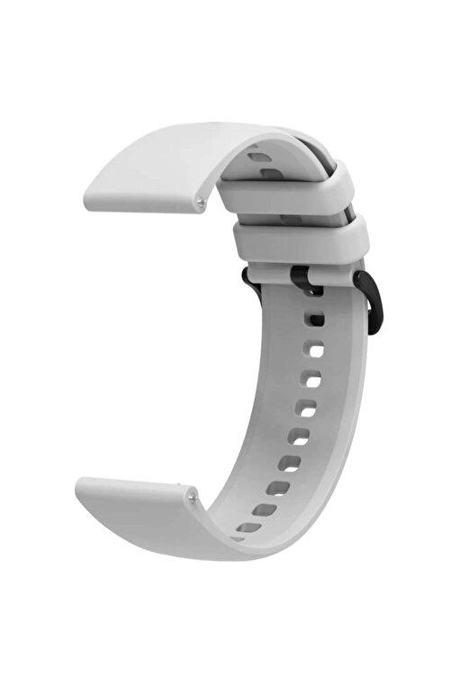 Coverzone Galaxy Watch 46mm 22mm Kayış Termoplastik Perforated Kordon Gri 2