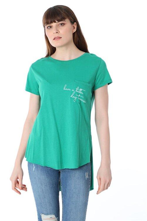 ZİNCiRMODA Baskılı T-shirt - Yeşil 1