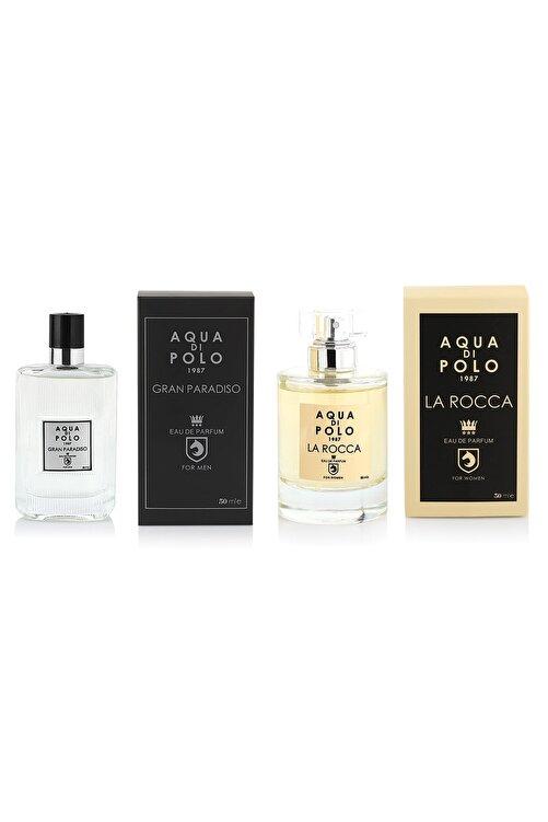 Aqua Di Polo 1987 La Rocca Edp 50 ml Kadın Parfüm +  Gran Paradiso Edp 50 Erkek Parfüm 2'li 8682367041647 1
