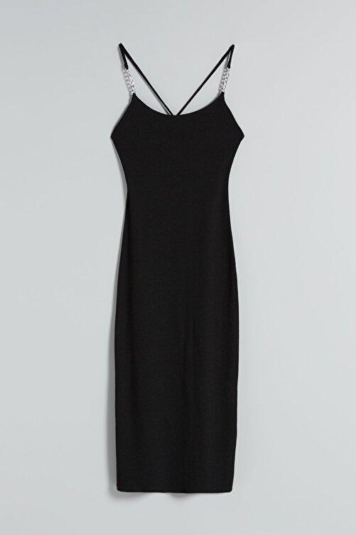 Bershka Zincirli Midi Elbise 2
