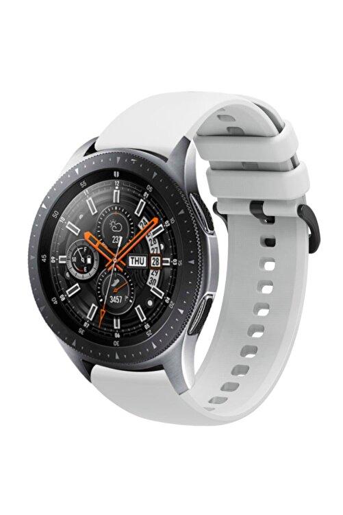 Coverzone Galaxy Watch 46mm 22mm Kayış Termoplastik Perforated Kordon Gri 1