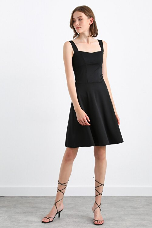 adL Kolsuz Volanlı Elbise 1