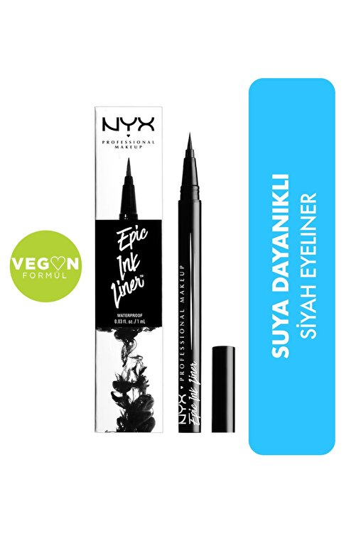 NYX Professional Makeup Siyah Eyeliner - Epic Ink Liner Black 800897085605 1