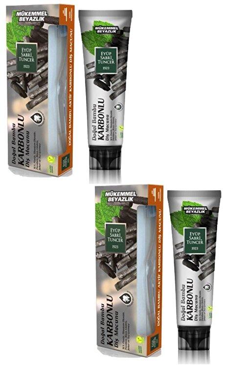 Eyüp Sabri Tuncer Doğal Aktif Bambu Karbonlu Diş Macunu 75 ml + Diş Fırçası Hediyeli X 2 Adet 1