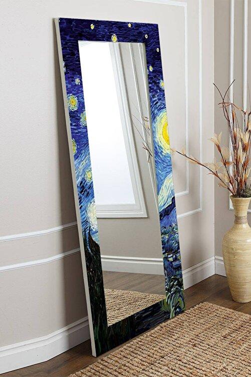 Hediyeler Kapında Van Gogh Yıldızlı Gece Dekoratif Boy Aynası 150x60cm 1