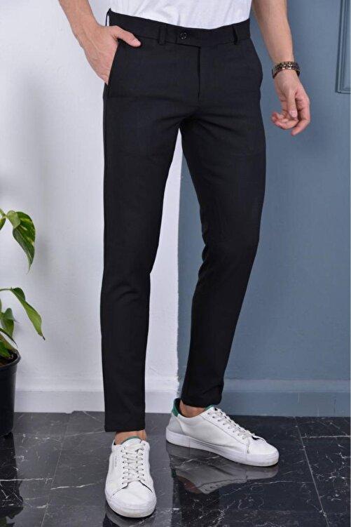 Bürke Erkek Siyah Italyan Kesim Slimfit Kumaş Pantolon 1