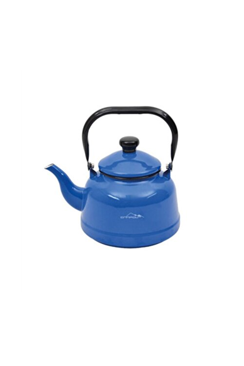 NURGAZ Mavi Campout Emaye Çaydanlık Set 2