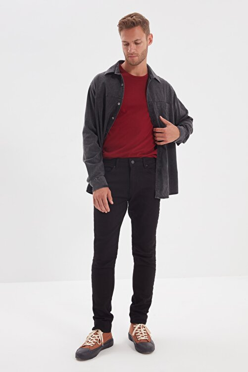 TRENDYOL MAN Siyah Erkek Skinny Solmayan Jeans TMNSS20JE0236 1