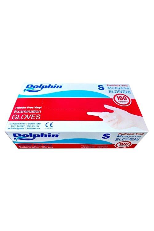 Dolphin Vinil Şeffaf Muayene Eldiveni ( S ) Beden ( 100'lü Paket ) 2