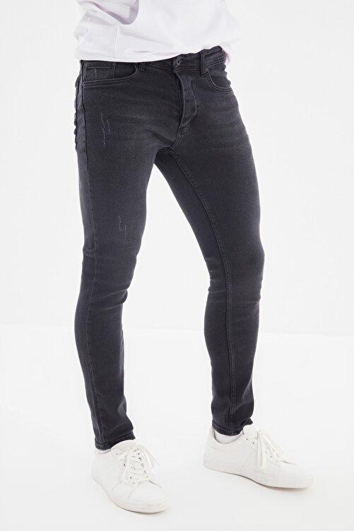 TRENDYOL MAN Siyah Erkek Skinny Yeni Jeans TMNAW20JE0405 2
