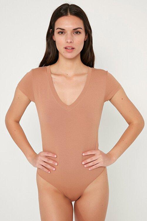 Penti Açık Kahverengi Tişört Cotton Bodysuit 1