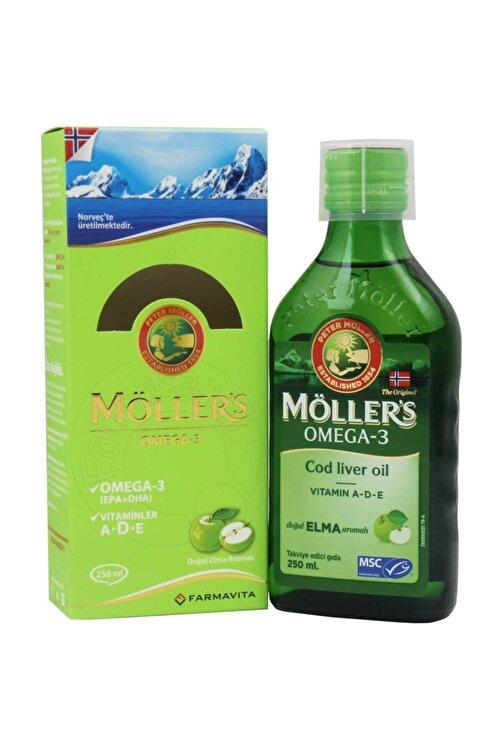 Möller's Möllers Balık Yağı Şurubu 250 ml - Elma - 7070866029371- 1