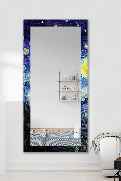 Hediyeler Kapında Van Gogh Yıldızlı Gece Dekoratif Boy Aynası 150x60cm 2
