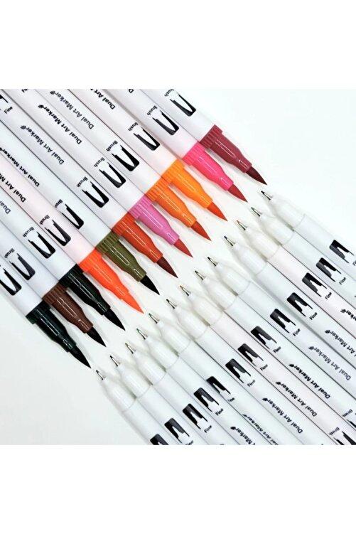armex Brushpen Ve Fineliner 120 Renk Çift Taraflı Boyama Işarteleme Ve Yazı Kalem 2