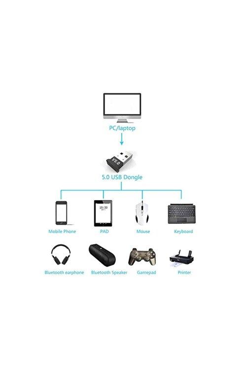 WOZLO Mini V5.0 Usb Bluetooth Dongle V5.0 Bluetooth Adaptör 1