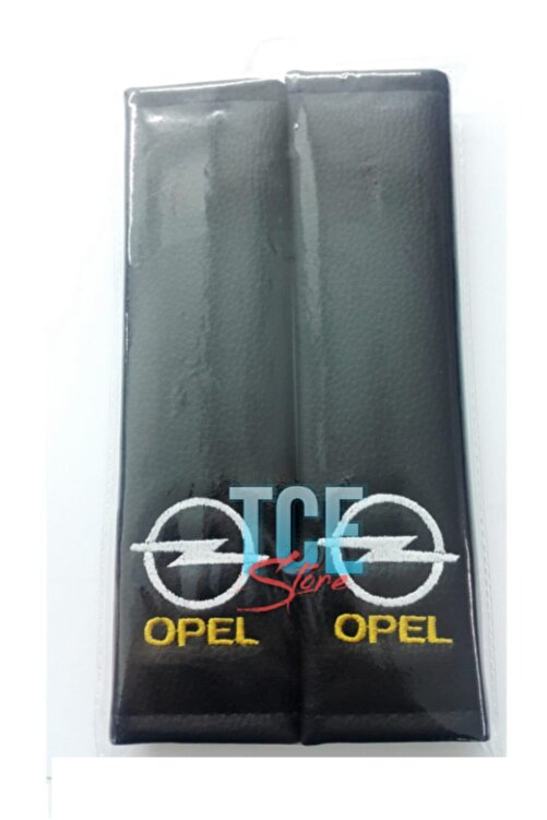 TCE Opel Deri Emniyet Kemer Kılıfı Siyah Iki Adet 2