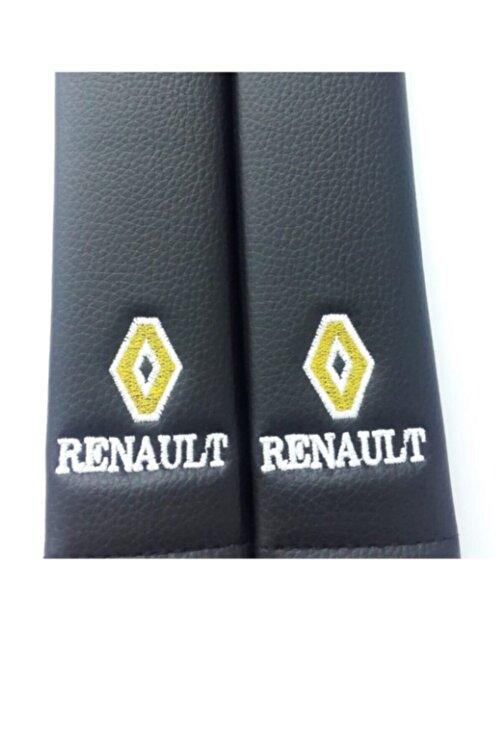TCE Renault Deri Emniyet Kemer Kılıfı Siyah Iki Adet 2